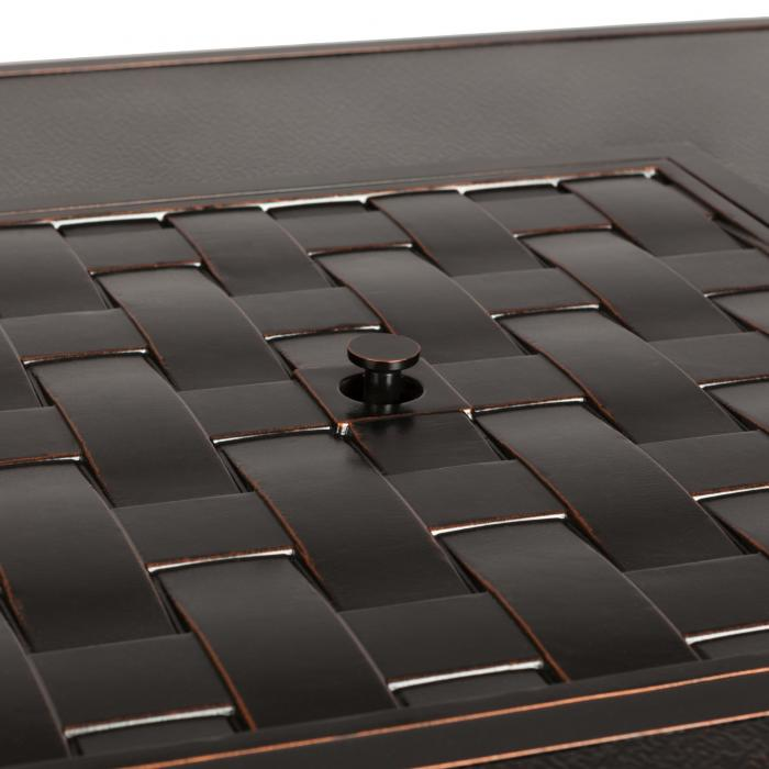 Armstrong Cast Aluminum LPG Fire Pit Table
