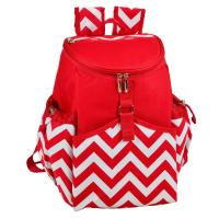 Picnic at Ascot Insulated Backpack Cooler - Red Chevron