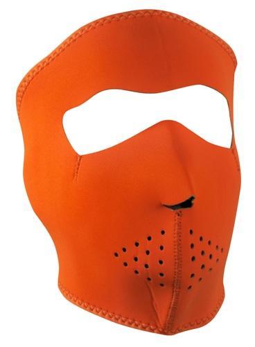 ZanHeadgear Neoprene Orange Face Mask WNFM142
