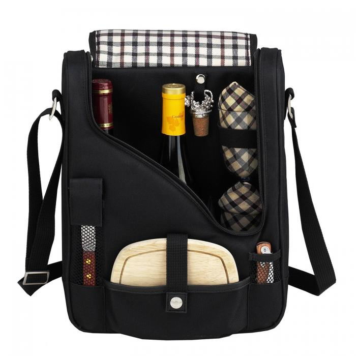Picnic at Ascot Pinot Wine & Cheese Cooler for Two- London Plaid