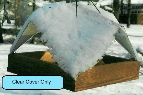 Songbird Essentials 12 x 12 Clear Plastic Cover For Platform Feeder