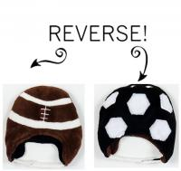 Luvali Convertibles Football/Soccer Reversible Kid's Winter Hat, Small
