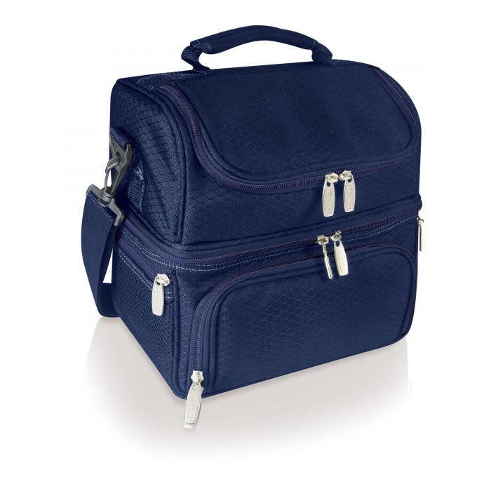 Picnic Time Pranzo Insulated Picnic/Lunch Cooler with Service for One, Navy