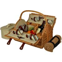 Picnic at Ascot Yorkshire Picnic Basket for Four with Blanket - Santa Cruz