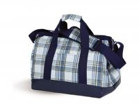 Spacious Thermal Foil Lined Doctor's Bag Shape Cooler by Picnic Plus, Varsity Plaid