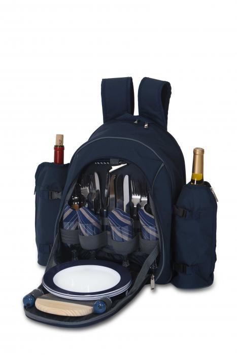 Picnic Plus Stratton 4 Person Backpack, Navy