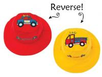 Luvali Convertibles Police Car/ Fire Truck Reversible Kids Hat Medium