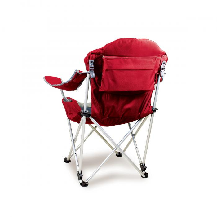 Picnic Time Reclining Camp Chair, Dark Red