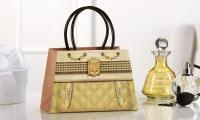 Giftcraft Paper Purse Shape Gift Bag Gold Quilt Gemstone and Crocodile Design