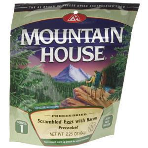 Mountain House Precooked Eggs with Bacon - Serves 1