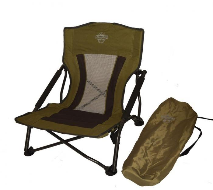 Crazy Creek Crazy Legs Quad Beach/Festival Chair, Olive Green