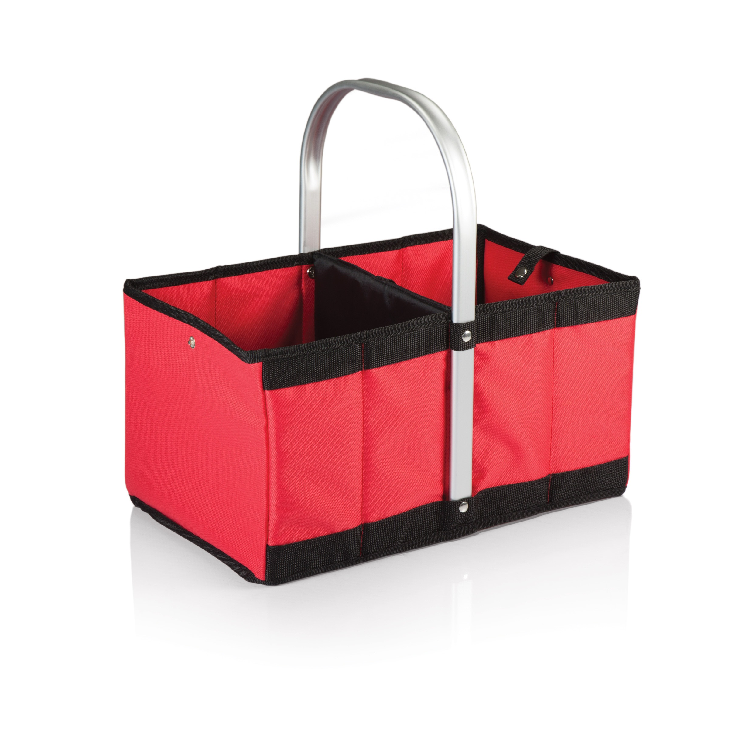 Picnic Time Urban Collapsible Canvas Basket Red