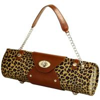 Picnic at Ascot Wine Carrier & Purse - Leopard