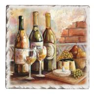 Counter Art Tuscan Pinot Tumbled Tile Coasters Set of 4