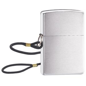 Zippo Lossproof, Brushed Chrome with Lanyard