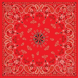 "Bandannas 100% Cotton Bandana, Red Paisley, Premium, 22"" x 22"""