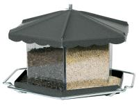 Homestead Triple Bin Party Bird Feeder, Bronze