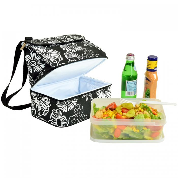Picnic at Ascot Fashion Insulated Lunch Bag  - Night Bloom