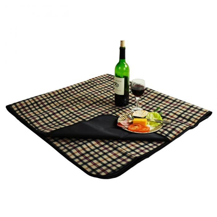 """Picnic at Ascot Outdoor Picnic Blanket with Waterproof Backing  58"""" x 53"""". London Plaid"""