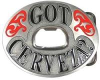 Siskiyou Sports Got Cerveza? Enamel Belt Buckle