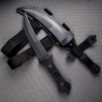Fury Sporting Cutlery Apex 13in. Black, Razor Edge, Hard Sheath