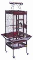 Small Wrought Iron Select Bird Cage - Garnet Red
