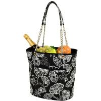 Picnic at Ascot Large Insulated Fashion Cooler Bag - 22 Can Tote - Night Bloom