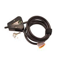 Cable Lock Blk Adjustable, Clam