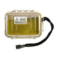 """Pelican Products Micro Case Clear, Yellow, 5.44"""" x 4.06"""" x 2.13"""""""