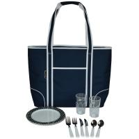 Picnic at Ascot Extra Large Insulated Picnic Bag Equipped for 2 - Navy/Brown