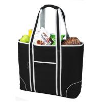 Picnic at Ascot  Extra Large Insulated Cooler Bag - 30 Can Tote - Black