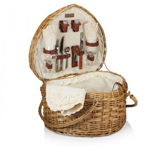 Best Picnic Basket For 2 : Picnic time woven heart basket for