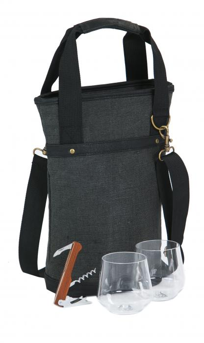 Picnic Plus Omega Single Bottle Bag - Grey