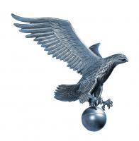 Large Flagpole Eagle - Pewter