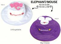 Luvali Convertibles Elephant Mouse Reversible Kids' Hat Medium