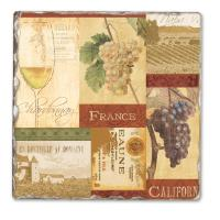 Counter Art Wine Valley Single Tumbled Tile Coaster