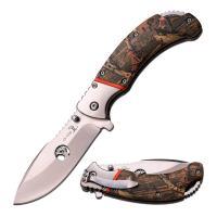 "Elk Ridge 4.25"" Closed Camo Coated Assisted Opening Folding Knife, ER-A162CA"