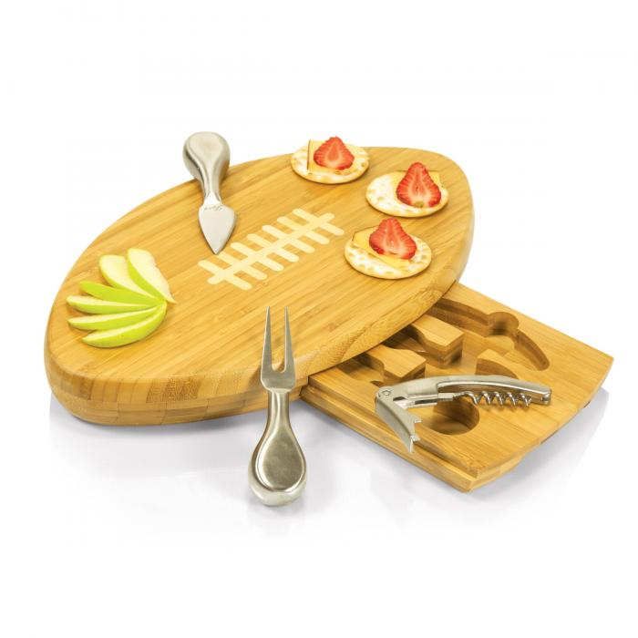 Picnic Time Quarterback- Football Cheese Board w/ tools