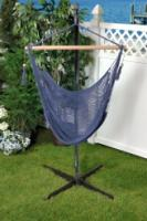 Bliss Hammocks Tahiti Cotton Rope Hammock Chair - Blue