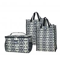 Love Bags Dharma Karma Black Chill Set, 3 in 1 Cooler/Tote Set