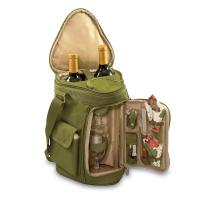 Picnic Time Meritage Wine and Cheese Tote For Two, Pine/Olive Green