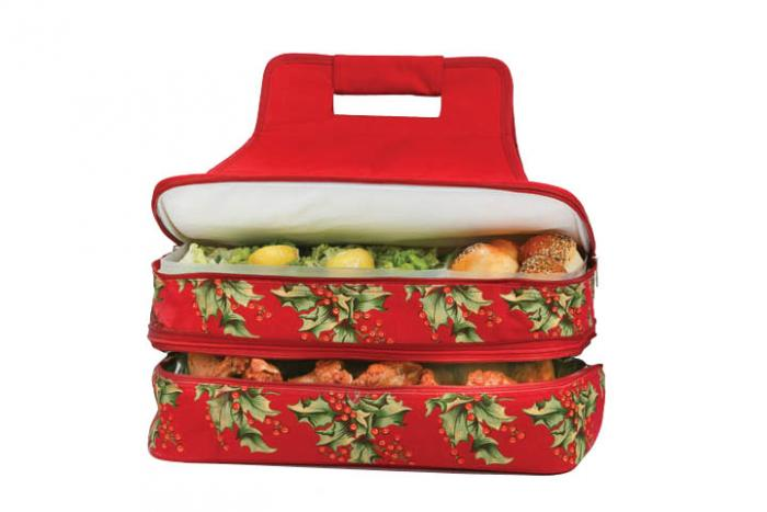 Picnic Plus Entertainer Hot & Cold Food Carrier - April Cornell Holly