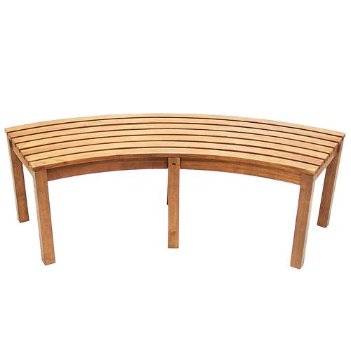 Achla Curved Backless Bench