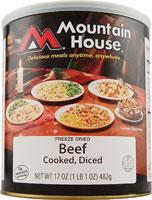 Mountain House Diced Beef - 15 2/3 Cup Servings
