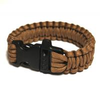 JB Outman Survival Bracelet With Whistle - Khaki