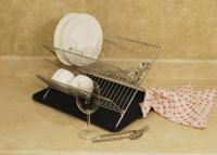 Cookpro Chrome Dish Rack 2 Tier Stand & Plastic Drain