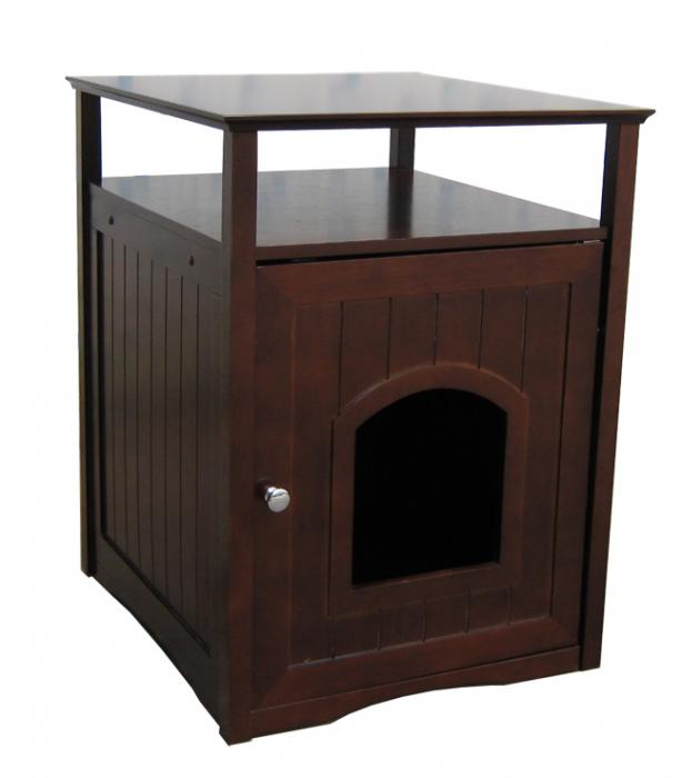 Walnut Color Cat/Dog Washroom/House