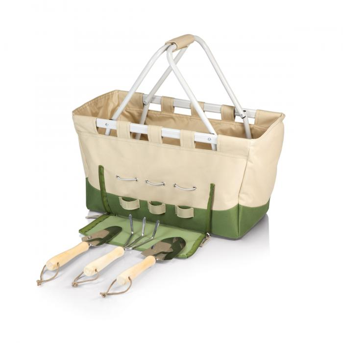 Picnic Time Garden Metro Basket Tan And Olive