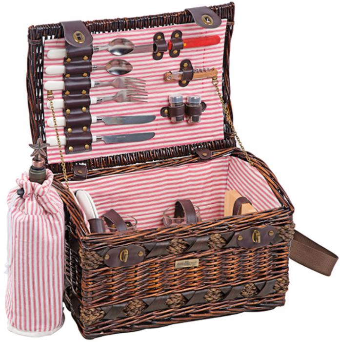 Picnic & Beyond Couture Collection 2-Person Willow Picnic Basket