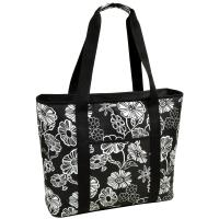 Picnic at Ascot  Extra Large Insulated Cooler Bag - 30 Can Tote - Night Bloom